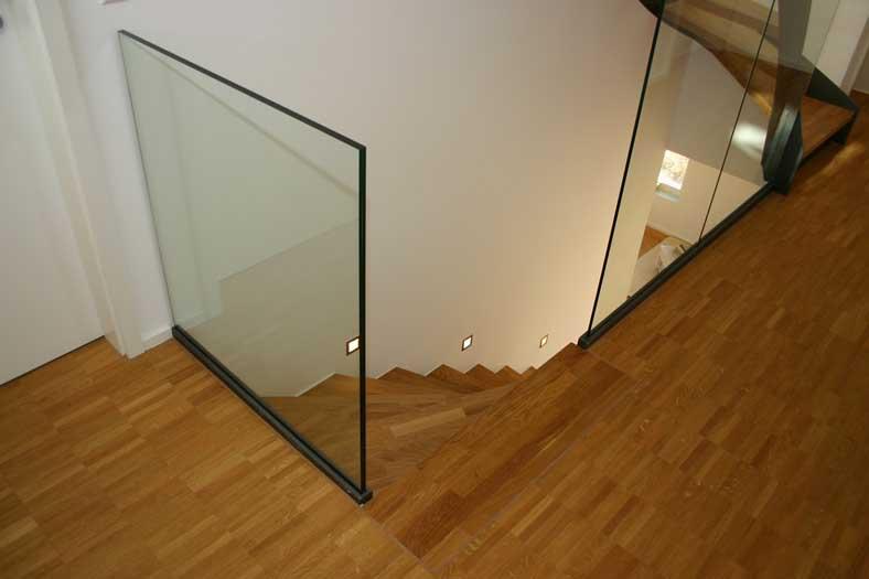 Barandillas en gipuzkoa de hierro acero inoxidable - Escaleras con barandilla de cristal ...