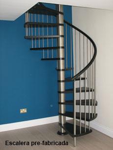 Escaleras en bilbao bizkaia de caracol de hierro de for Escaleras de madera sencillas
