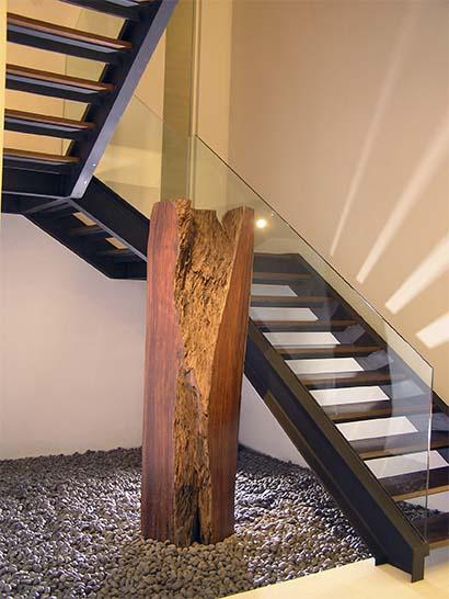Barandillas en gipuzkoa de hierro acero inoxidable forja art stica con cristal ibarkalde - Escaleras de cristal y madera ...