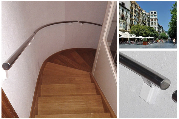 Pasamanos desmontables en acero inoxidable para escalera - Pasamanos de acero inoxidable para escaleras ...
