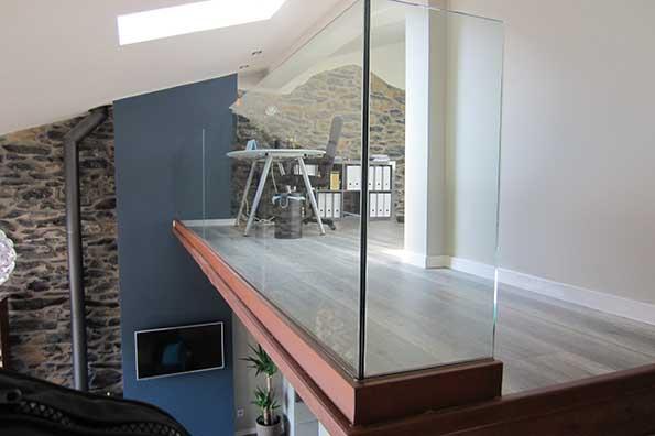 Perfil de hierro para barandilla de cristal en gipuzkoa for Barandillas de cristal para terrazas