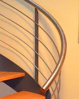Barandillas de acero inoxidable para escaleras interiores - Escaleras de interiores ...