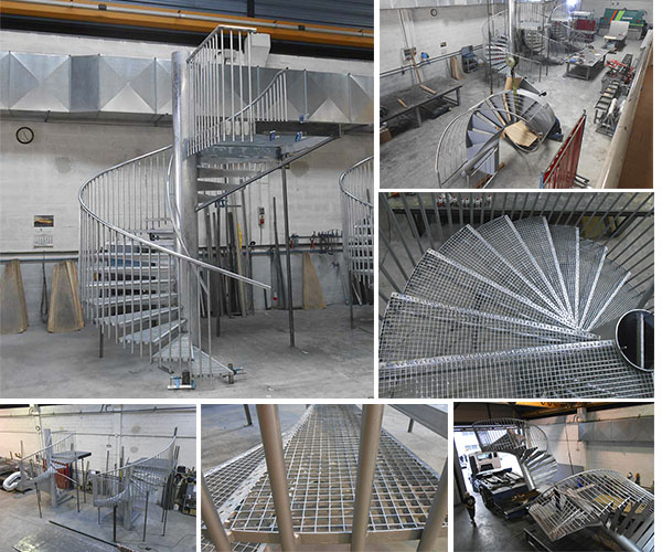 Pin escaleras metalicas dise genuardis portal on pinterest for Escaleras metalicas