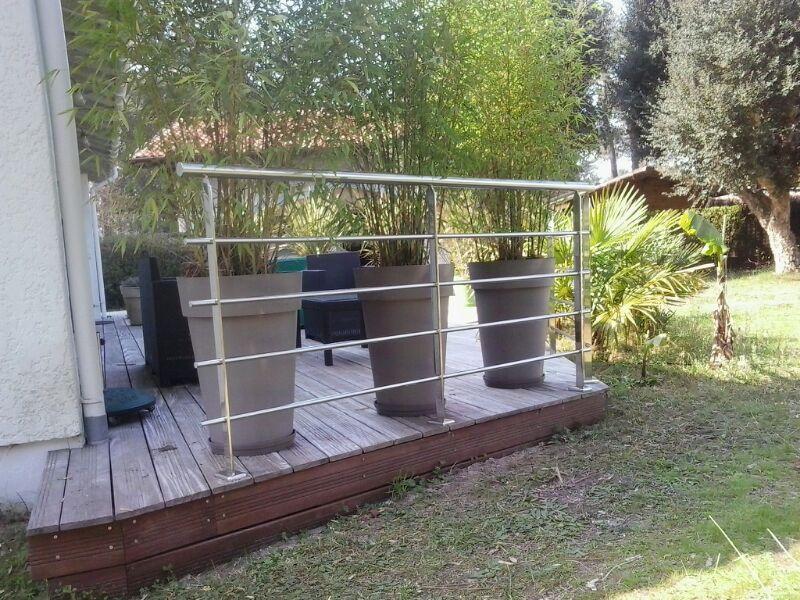 Barandilla de acero inoxidable para jard n en capbreton for Barandillas de madera para jardin