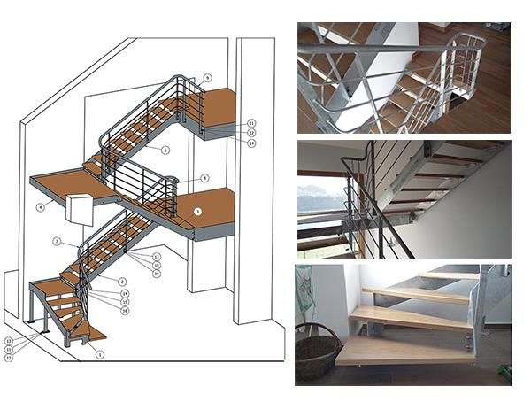 Escalera de tres plantas para vivienda unifamiliar for Escaleras tres tramos